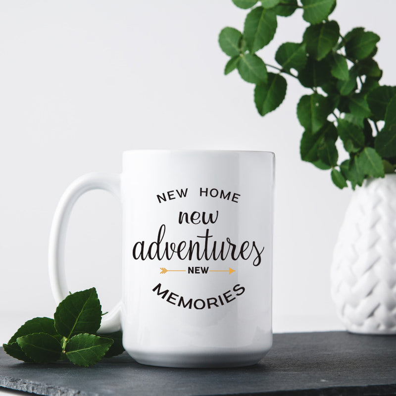 Housewarming Gifts For New Home – House Warming Decoration Gifts for Him, Her, Couple, Men and Women- New Home Coffee Mug - 15 Ounce Coffee Mug Cup