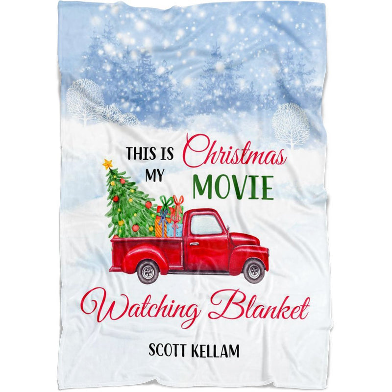 "Personalized Christmas Blanket - Christmas Car Blanket with Customized Name and Seasonal Greeting - Baby 30""x40"" Fleece Blanket - YehGift"