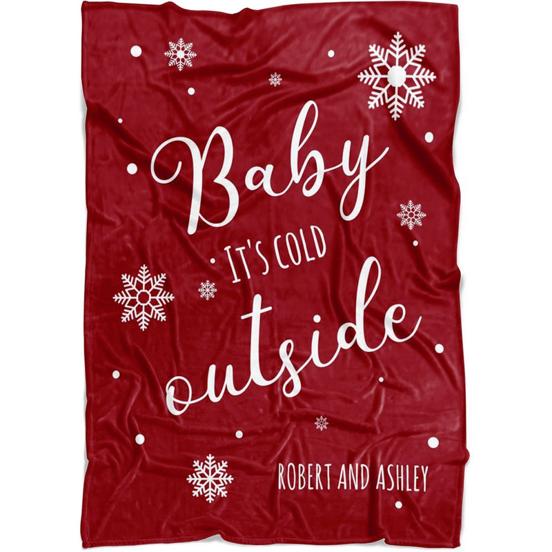 "Personalized Christmas Blanket - Custom Quotes for Holidays - Baby 30""x40"" Fleece Blanket - YehGift"