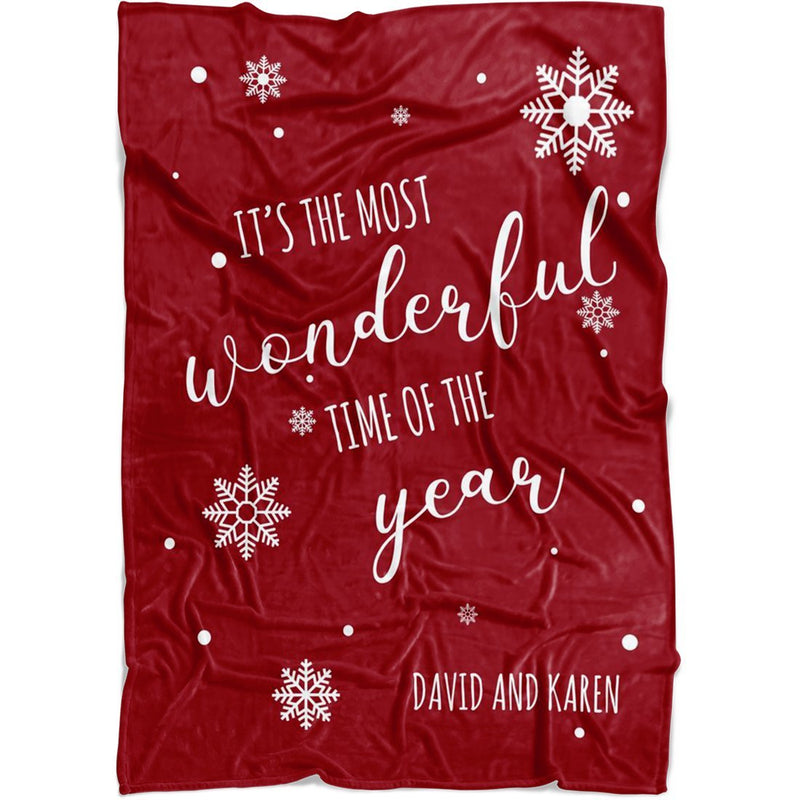 Personalized Christmas Blanket - Custom Quotes for Holidays - Fleece Blanket - YehGift