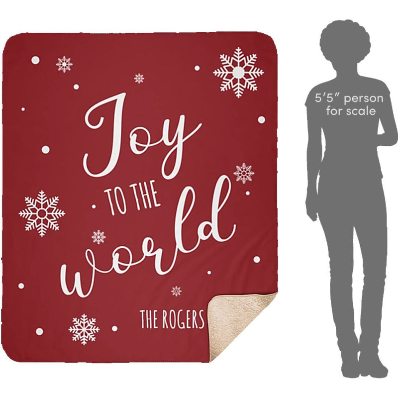 Personalized Christmas Blanket - Custom Quotes for Holidays - Sherpa Blanket - YehGift