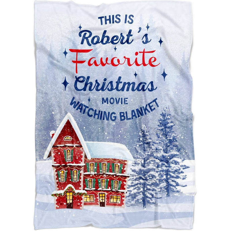 "Personalized Christmas Blanket - Customized Christmas House Blanket - Baby 30""x40"" Fleece Blanket - YehGift"