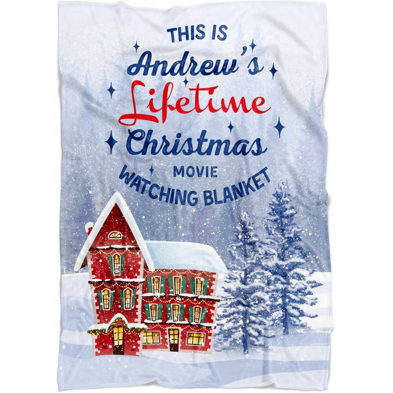 Personalized Christmas Blanket - Customized Christmas House Blanket - Fleece Blanket - YehGift