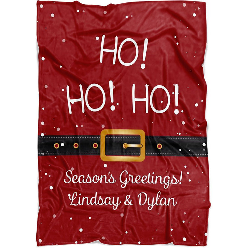 "Personalized Christmas Blanket - Personalized Santa's Belt Blanket with Customized Name Quotes for Christmas - Baby 30""x40"" Fleece Blanket - YehGift"