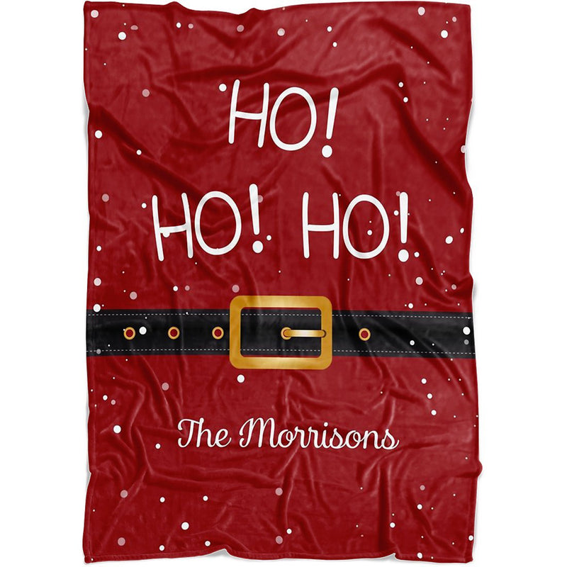 Personalized Christmas Blanket - Personalized Santa's Belt Blanket with Customized Name Quotes for Christmas - Fleece Blanket - YehGift