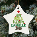 Personalized Christmas Tree Ornament - Custom Your Own Ornaments with Family Names, Great Gift For Parents, Grandparents - YehGift