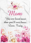 Personalized Floral Throw Blanket Custom from Your Quotes - Fleece Blanket - YehGift