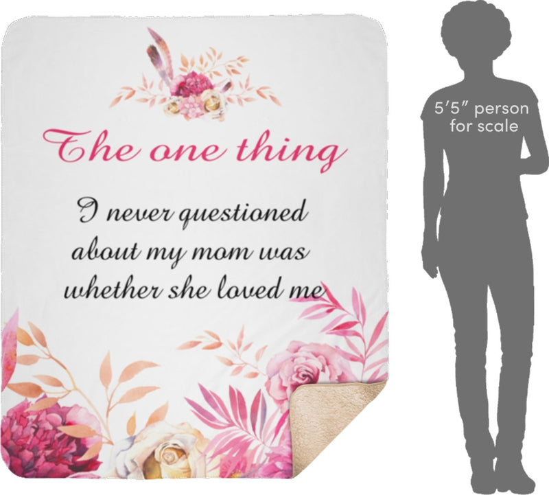 Personalized Floral Throw Blanket Custom from Your Quotes - Sherpa Blanket - YehGift