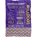 Personalized Graduation Blanket - Custom Fleece Blanket with Name, School Name, and any Favorite Text or Titles with Special Meanings - YehGift