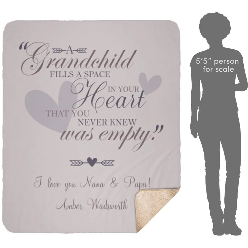 Personalized Grandma Blanket Throw for Kids Grandpa Mom. I Love Grandma Blanket from Granddaughter - Sherpa Blanket - YehGift