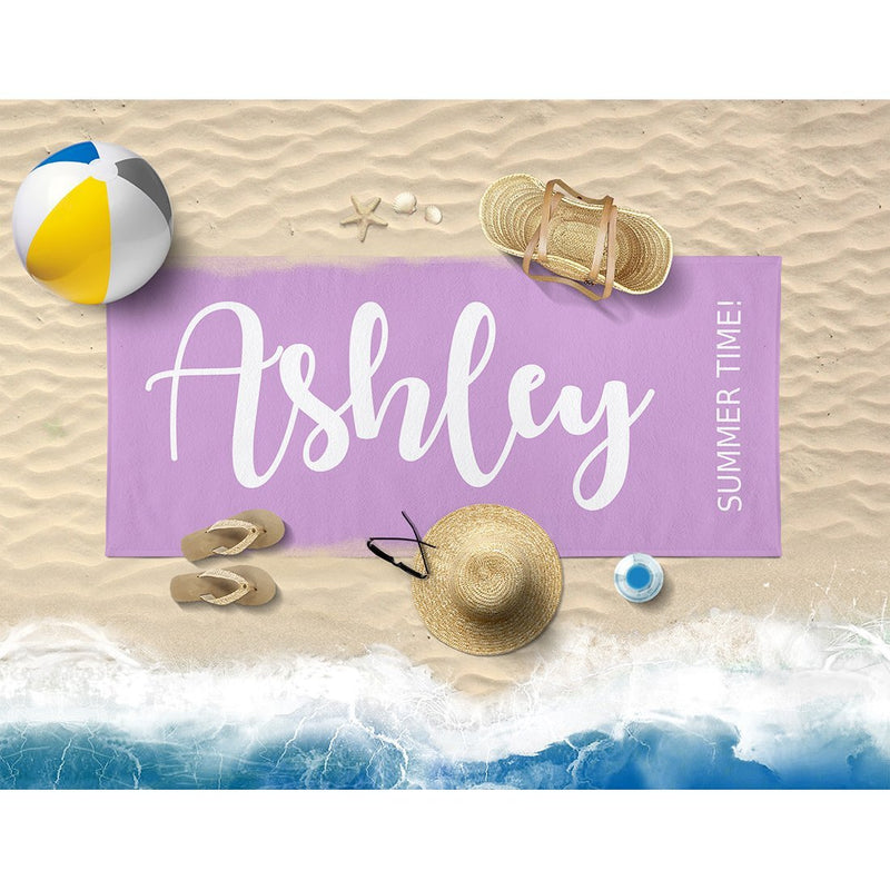 Personalized Name Beach Towel - Personalized Beach Towels for Women Kids Girls Boys Adults Men - Name Design - YehGift