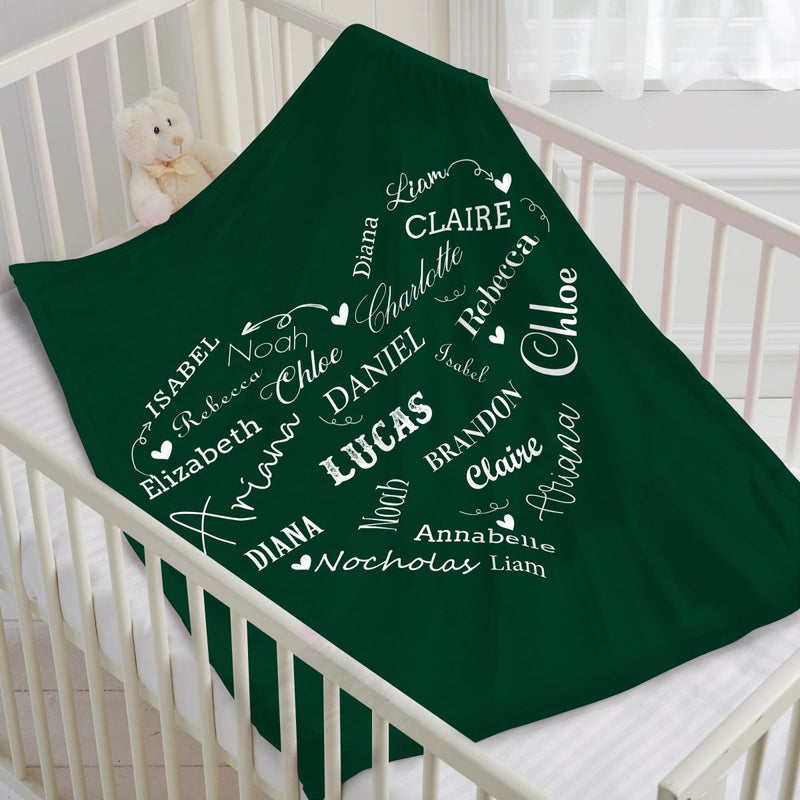Personalized Fleece Baby Blankets with Name for Boys & Girls - Close to Heart Custom with upto 23 Names
