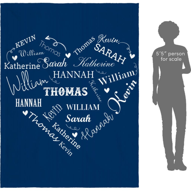 Personalized Name Blanket - Close to Heart Custom Name - Fleece Blanket - YehGift
