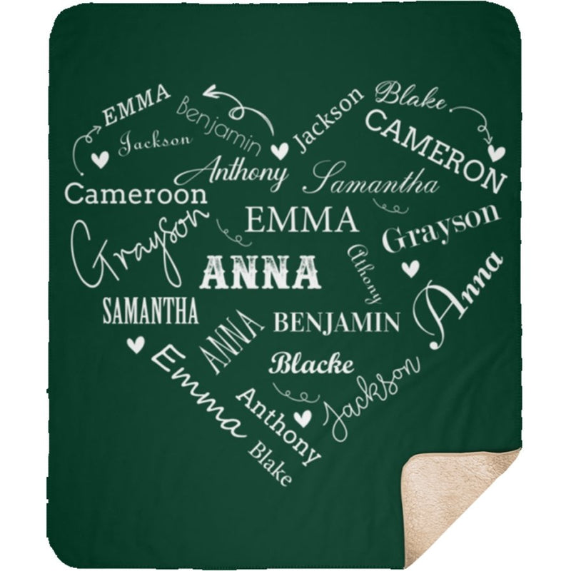 Personalized Name Blanket - Close to Heart Custom Name - Sherpa Blanket - YehGift