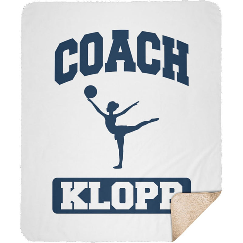 Personalized Name Blanket - Coach Gifts for Women and Men - Customize with 15 Sports Baseball Basketball Cheerleading Football Golf Gymnastics Hockey Lacrosse Soccer Softball Swimming Tennis Track & Field Volleyball Wrestling - Sherpa Blanket - YehGift