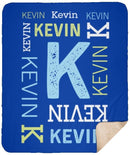 Personalized Name Blanket for Baby Boy Girl and Kids. Custom Name Blanket from Your Baby's Name. Repeating Name Customized Sherpa Throw. Gift for Birthday, New Dad, New Mom, Christmas - YehGift