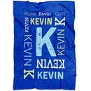 Personalized Baby Blankets with Name for Boys & Girls - Repeating Name Fleece Baby Blanket