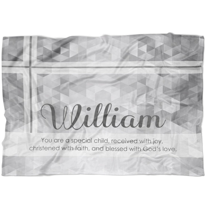 "Personalized Name Blanket - May You Be Blessed Personalized Christening Blanket. Newborn Baby Blanket from Baby's Name for Girls and Boys - Baby 30""x40"" Fleece Blanket - YehGift"