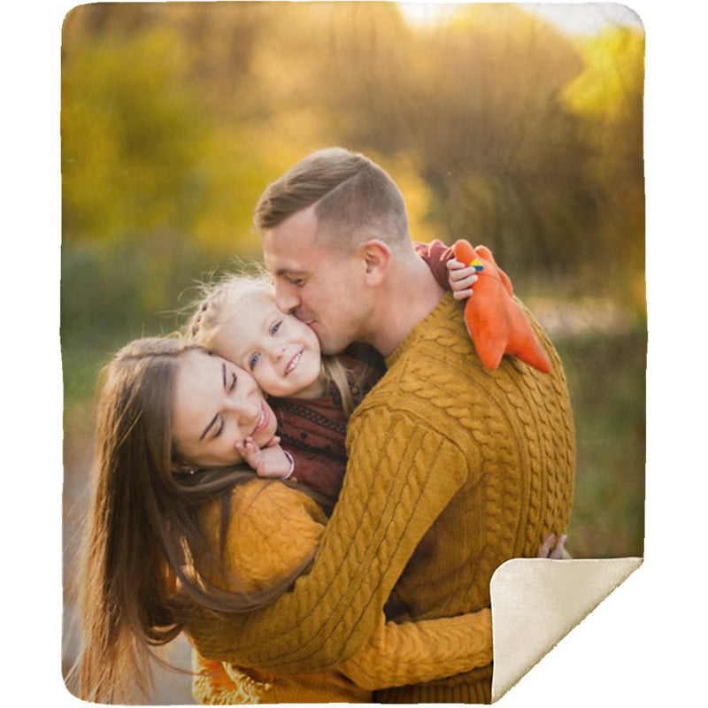 Personalized Photo Blanket - Create Your Own Customize Photo Sherpa Blanket With 1 Picture - YehGift