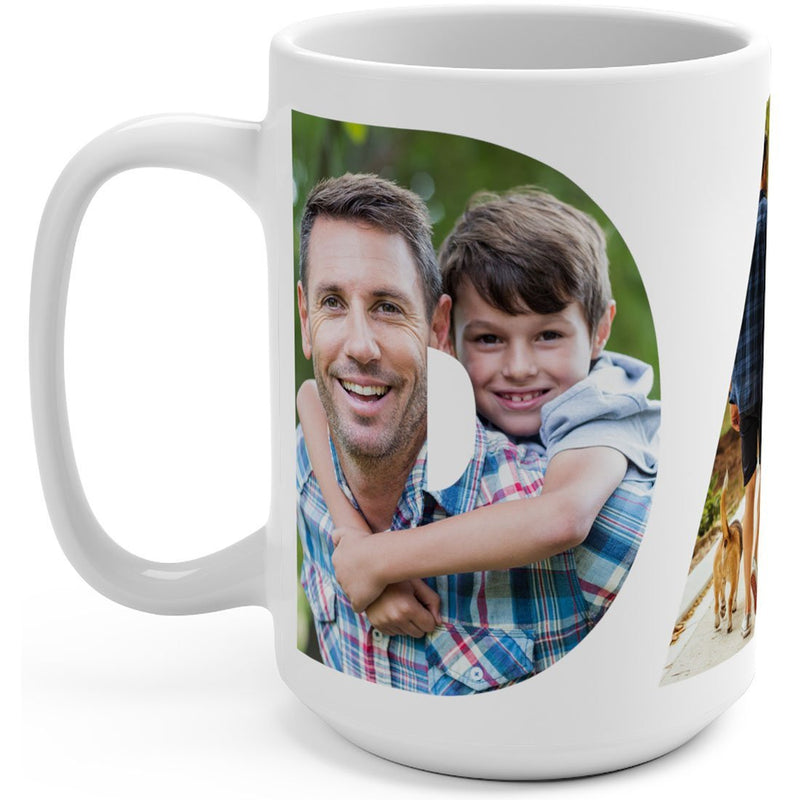 Personalized Photo Mugs for Dad. Add Picture to Customized Travel Funny Mug to create photo collage cup. Great Gift for Dad or Step Dad, Father's Day, Birthday, Christmas, Thanksgiving - YehGift