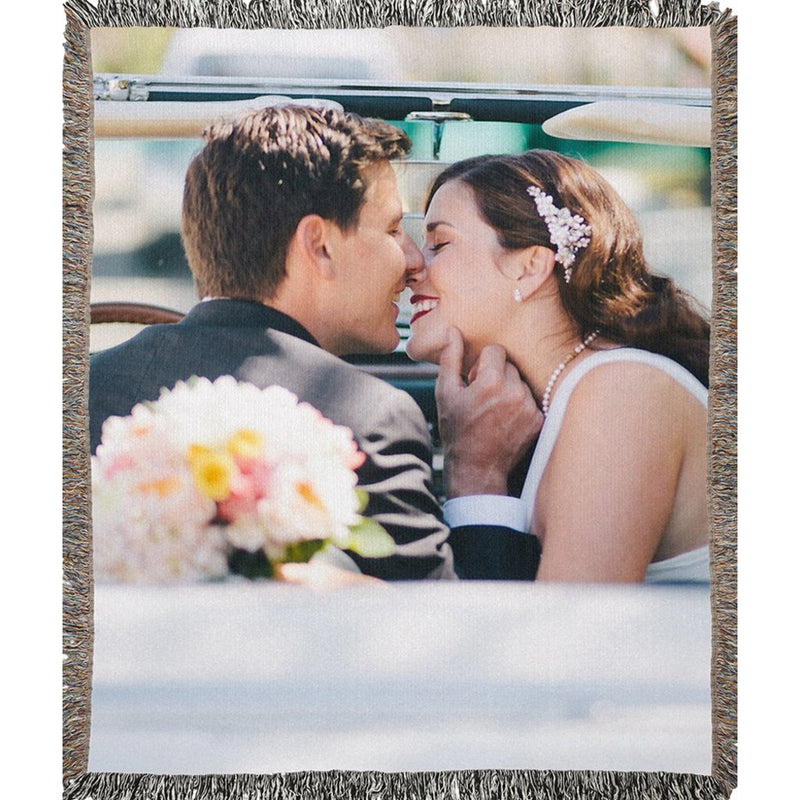Personalized Photo Woven Blanket - Create Your Own Woven Blanket With 1 Picture - YehGift