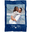 Personalized Photo Blanket - Create Your Own Cutomized Photo Fleece Blanket With 1 Picture and Your Name & Special Year