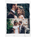 Personalized Photo Blanket - Create Your Own Fleece Blanket With 2 Pictures Collage