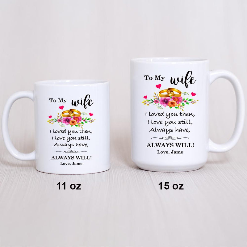 Coffee Mug - To My Wife Love You Still Coffee Mug & Cup - Novelty Ceramic Cup - Perfect Present For Valentine's Day, Christmas, Birthday, Anniversary, Xmas, Mother's Day