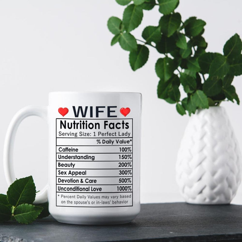 Valentines Day Gifts, Happy Anniversary Gifts, Birthday Gifts Ideas, Mothers Day Gifts, Best Wife Ever Gifts, Christmas Gifts for Wife, Her - Cofffee Mug 15oz - YehGift