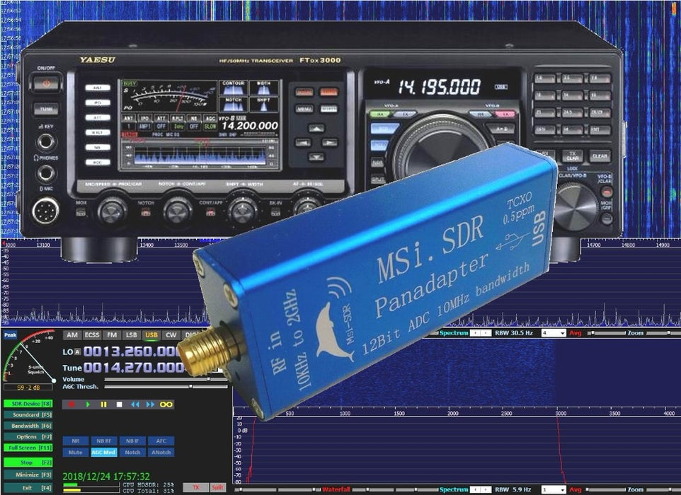 10KHz-2GHz 12bit SDR Receiver SDRPLAY RSP1 RSP2 RTL-SDR HackRF Upgrade AM FM HF SSB CW receiver Full band HAM Radio - Cards and Gadgets