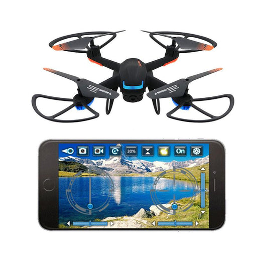 Black with Orange Detail 2.4G Quadcopter Drone with Camera - Cards and Gadgets