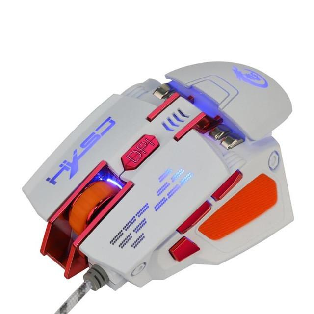 7D Buttons 4000DPI Optical Wired Gaming Mouse - Cards and Gadgets