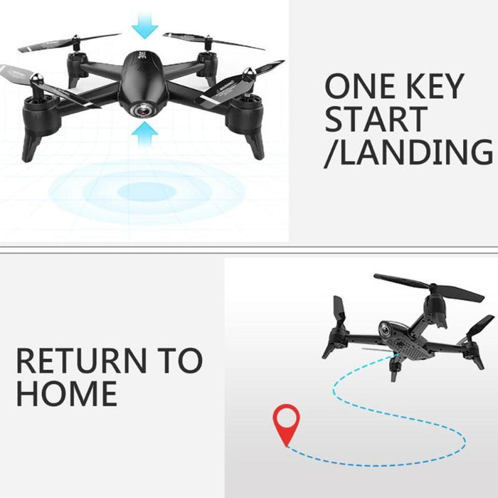 Remote Control WiFi Headless 3D Flip Quadcopter Drone with 1080P Wide Angle Camera - Cards and Gadgets