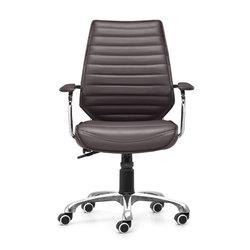 "25"" X 23.5"" X 40.5"" Esp Leatherette Low Back Office Chair - Cards and Gadgets"