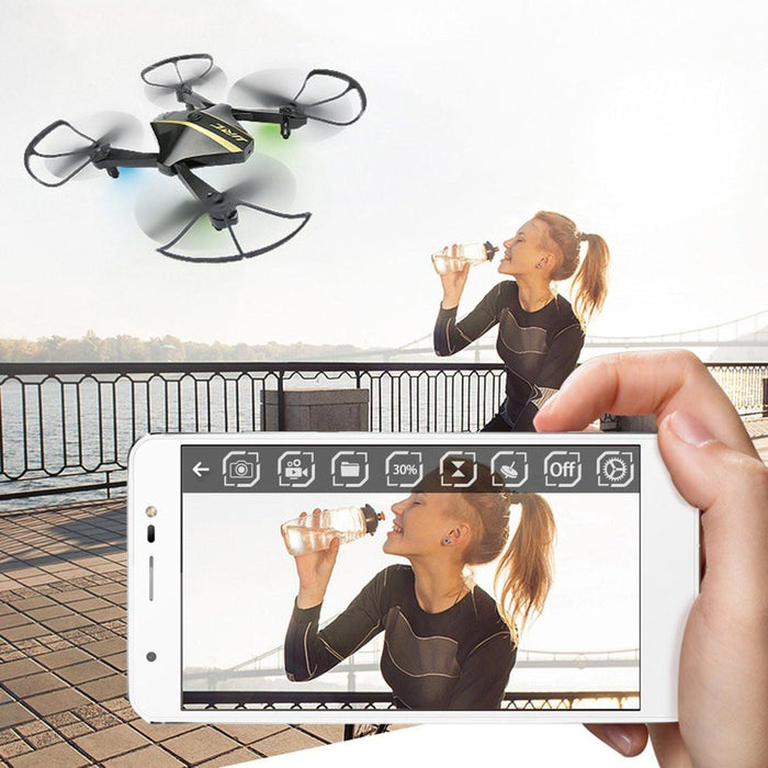 720P WiFi Foldable Headless Quadcopter Drone - Cards and Gadgets