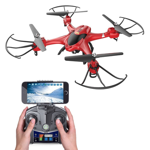 2.4Ghz 720P HD Camera Red Quadcopter RC Drone with Altitude Hold Mode - Cards and Gadgets