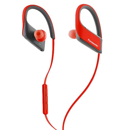 Bluetooth Sports Headset with Microphone Panasonic RP-BTS30E Red - Cards, Collectibles and Gadgets - CCG LLC