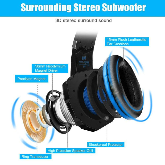 LED 3.5MM Stereo Gaming Headphone with Microphone - Cards and Gadgets
