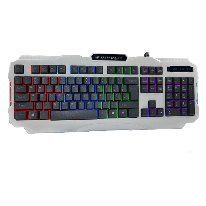 USB LED Backlight Multimedia PC Gaming Keyboard - Cards and Gadgets