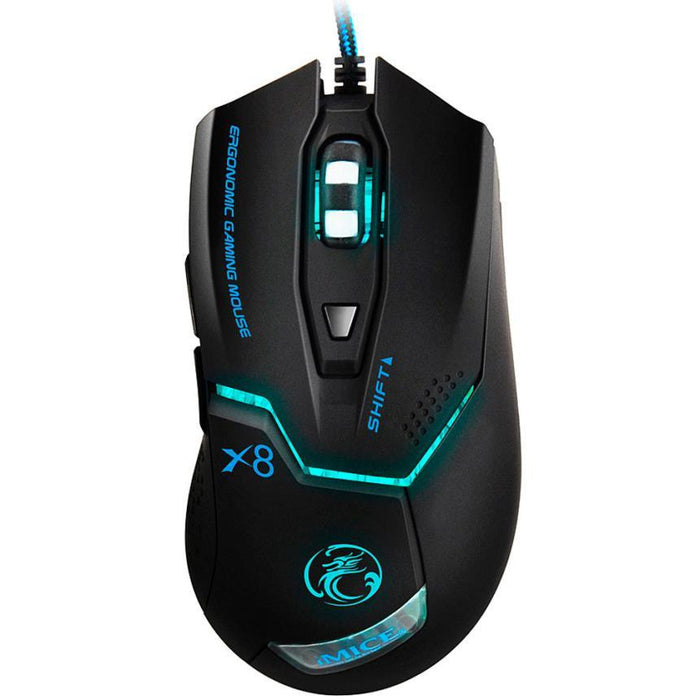 USB Wired Gaming Game Mouse with 3000 DPI and 6 Buttons - Cards and Gadgets