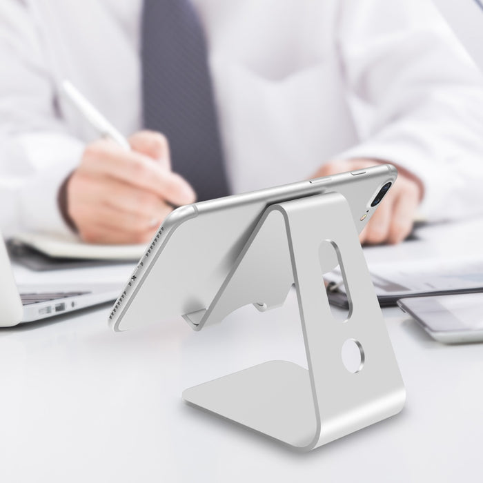Mobile Phone Holder Stand Aluminium Alloy Metal Tablet Stand - Cards and Gadgets