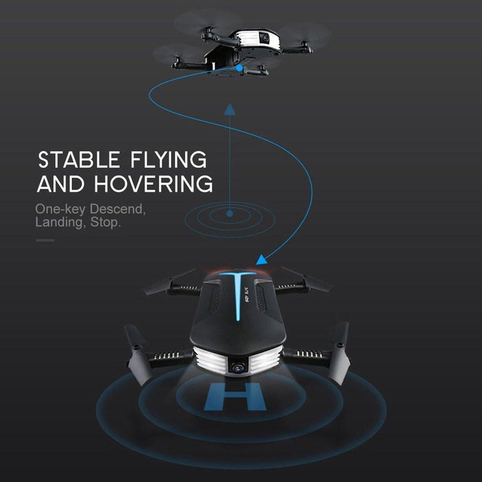 Mini Foldable RC Headless Drone with 720P HD Camera - Cards and Gadgets