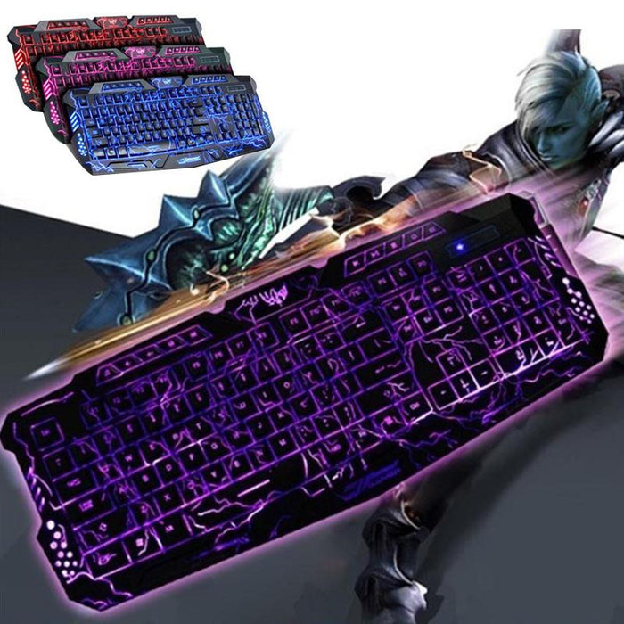 Wired Ultra Dragon Style 3 Backlight Gaming Keyboard - Cards and Gadgets
