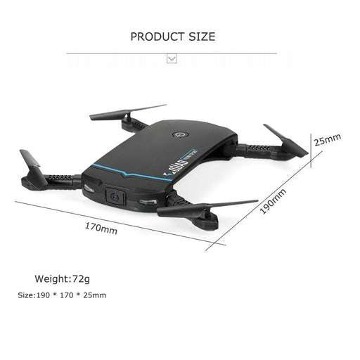 RC102  WiFi FPV Foldable RC Quadcopter  Drone - Cards and Gadgets