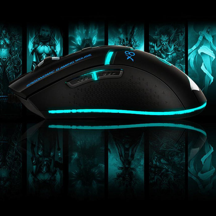 USB Wired Gaming Game Mouse with 3000 DPI and 6 Buttons - Cards, Collectibles and Gadgets - CCG LLC