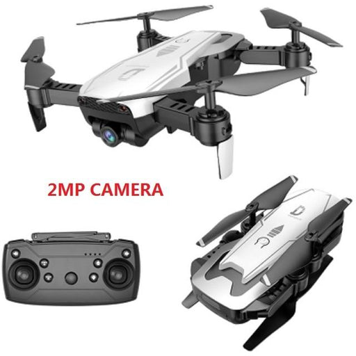 Foldable Remote Control WiFi Quadcopter Drone with Wide Angle 2MP Camera - Cards and Gadgets
