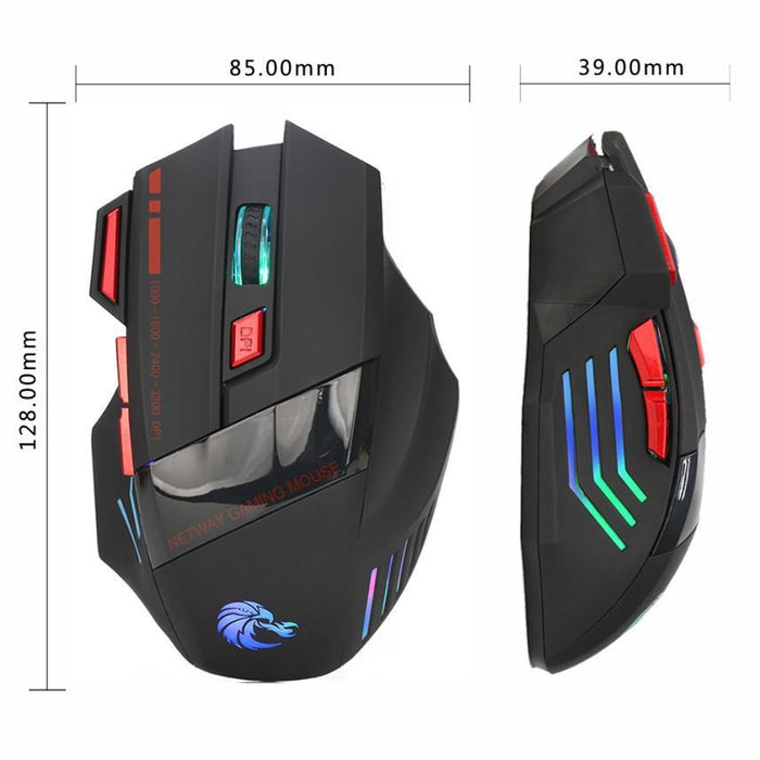 Wholesale 7 Buttons 3200DPI USB Optical Wired Gaming Mouse - Cards and Gadgets