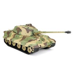 Henglong 6.0 3888A -1 1/16 2.4G German Tiger King Henschel Rc Battle Tank Smoking Sound Plastic One Toys - Cards and Gadgets