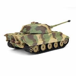 Henglong 6.0 3888A -1 1/16 2.4G German Tiger King Henschel Rc Battle Tank Smoking Sound Plastic One Toys - Cards, Collectibles and Gadgets - CCG LLC