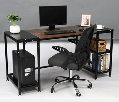 Sturdy Office Desk with CPU Stand - Cards and Gadgets